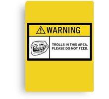 Warning - Trolls Canvas Print
