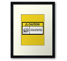Caution - Trolls Framed Print