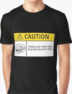 Caution - Trolls Graphic T-Shirt