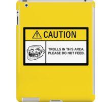 Caution - Trolls iPad Case/Skin