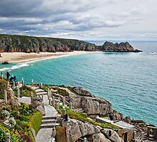 Porthcurno From The Minack ~ Cornwall by Susie Peek