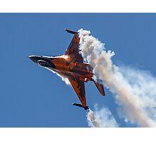 Dutch F-16 Solo Demonstration Photographic Print