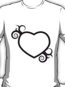 Single Hearts and Swirls T-Shirt