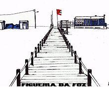 Figueira da Foz - Blue Beach Bar by Paul  Nelson-Esch