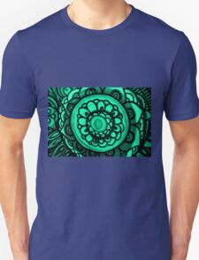 Green Floral Pattern T-Shirt