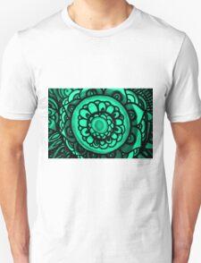 Green Floral Pattern T-Shirt
