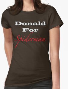 Donald For Spiderman Womens Fitted T-Shirt