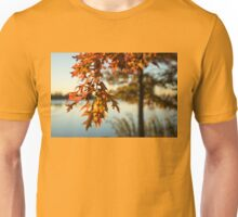 Sunny Autumn Colors on the Shore - the Changing Oak Tree Unisex T-Shirt