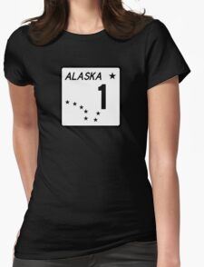 Route 1, Alaska, USA Womens Fitted T-Shirt