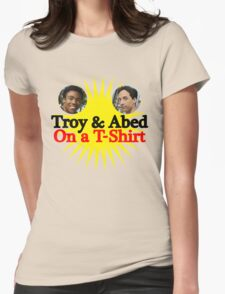 Troy and Abed on a T-Shirt Womens Fitted T-Shirt