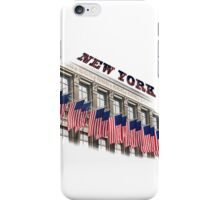 Row of American flags iPhone Case/Skin