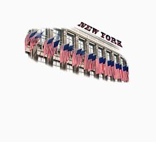 Row of American flags Unisex T-Shirt