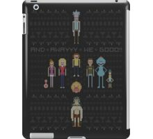 Rick and Morty Family Portrait DARK VERSION! iPad Case/Skin