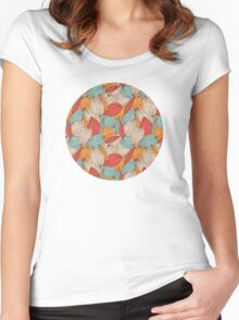 Romantic leaves Women's Fitted Scoop T-Shirt