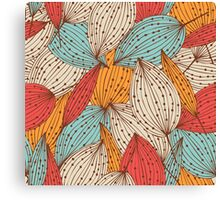 Romantic leaves Canvas Print