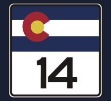 State Highway 14, Colorado, USA Kids Tee