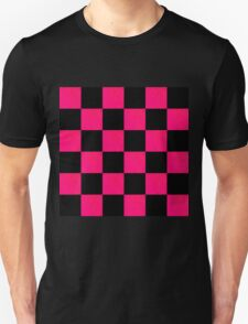 RADIANT BLACK AND RED CHECKERED DESIGN T-Shirt