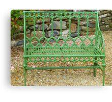 The Green Garden Seat Canvas Print