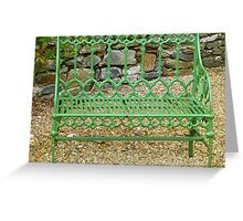 The Green Garden Seat Greeting Card