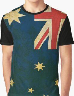 Vintage Australia Flag Graphic T-Shirt