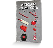 Zombie weapons checklist Greeting Card