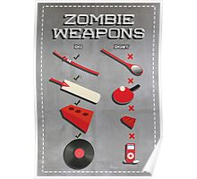 Zombie weapons checklist Poster