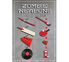 Zombie weapons checklist Photographic Print