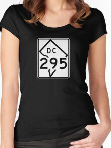 Route 295, District of Columbia, USA Women's Fitted Scoop T-Shirt