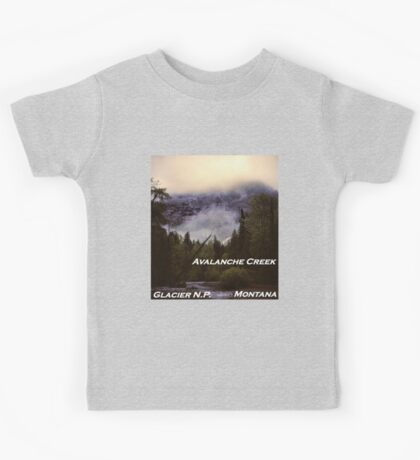 Avalanche Creek, Glacier N.P., Montana Kids Tee