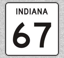 State Road 67, Indiana, USA Kids Tee