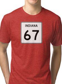State Road 67, Indiana, USA Tri-blend T-Shirt