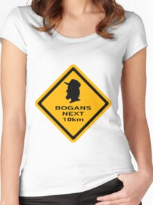Bogans next 10km Women's Fitted Scoop T-Shirt