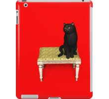 Black Cat on stool iPad Case/Skin