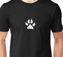 Paw Print in White Unisex T-Shirt