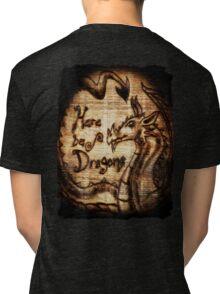 Here be Dragons! Tri-blend T-Shirt