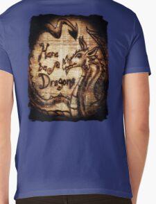 Here be Dragons! Mens V-Neck T-Shirt