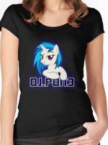 Vinyl Scratch aka. DJ.PON3 v2. Women's Fitted Scoop T-Shirt