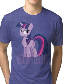 Twilight Sparkle is oh so Twilightlicious Tri-blend T-Shirt