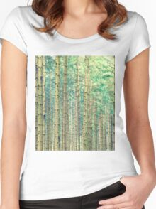 Locked In The Woods #redbubble Women's Fitted Scoop T-Shirt