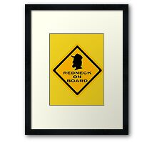Redneck on Board (diamond) Framed Print
