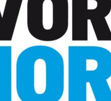 Less work more surf Sticker
