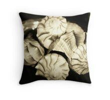 Sepia Shells Throw Pillow