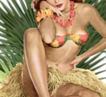 Tropicana Lounge Hula Girl 3 Sticker