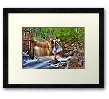 The eternal purification dam – Den eviga rening dammen Framed Print