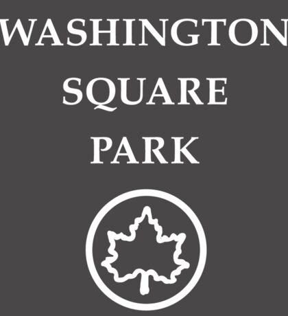 Washington Square Park, New York City Park, USA Sticker