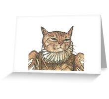 Banjo Cat Face Greeting Card