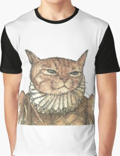 Banjo Cat Face Graphic T-Shirt