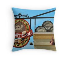 The Grumpy Troll in Mt. Horeb, WI Throw Pillow
