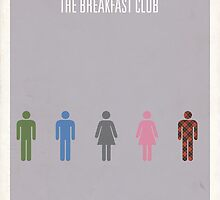 The Breakfast Club minimalist poster by Hunter Langston
