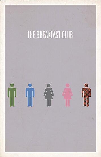 The Breakfast Club minimalist poster by Hunter Langston